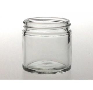 Pommadier 60 ml en verre blanc sodocalcique bague 51/400