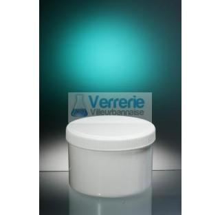 Pommadier 500ml Polypropylene blanc hauteur 98 dia PV500-01