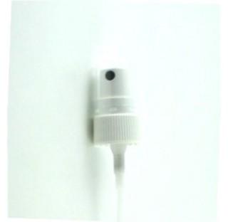 Pompe spray DIN 18 blanc avec couvercle en polypropylene transparent