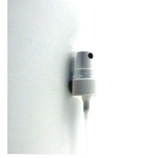 Pompe spray DIN18 blanc avec couvercle transparent monte, pulverisateur 27-10ml