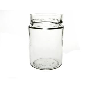 Bocal vaso mio 314 ml en verre blanc bague TO70 Deep, Twist off