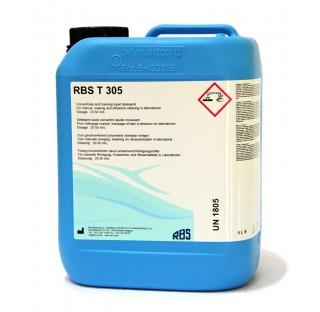 Detergent acide manuel produit : RBS T 305, 4 x 5 l bleu