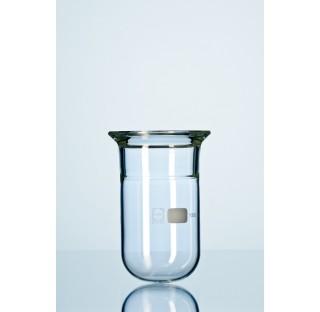 Recipient a reaction DURAN, flasque plane, avec rainure, pour emploi sous vide, DN 60, 100 ml