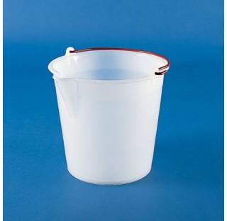 Seau en HDPE 9 litres diam 280mm hauteur 250mm plastique Kartell