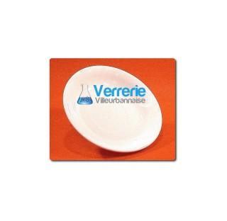 Soucoupe porcelaine emaillee diametre 115/125mm  condtionnement de 10 pieces