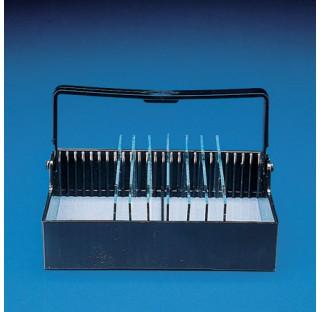 Porte-lames universel en POM pour coloration 25 lames dim 79,6x92x32,8mm , boite porte lames pour co