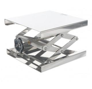 Support boy elevateur 300x300mm hauteur minixmaxi: 90x470mm / 12-60kg en inox