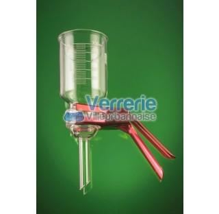 Base de filtration avec plaque fritte por 1 diam 47 mm verre Pyrex