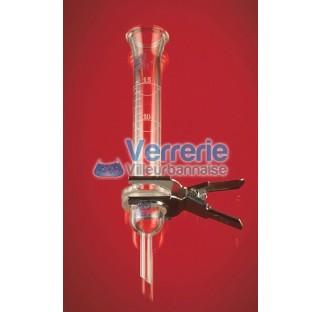 Reservoir gradue 15ml diam 25 mm pour systeme de filtration verre Pyrex