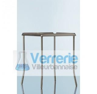 Pietement pour plaque de protection de laboratoire en vitroceramique en acier inoxydable, 135 x 135