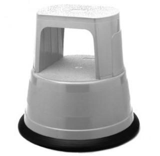 Tabouret marche pied a roulettes hauteur 420 diam 405/300mm en plastique