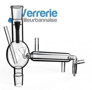 Tête magnétique avec entonnoir métallique pivotant afin de faire couler le liquide soit dans le réfr