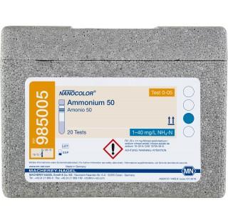 Tests tube Nanocolor Ammonium 50Test en tube pour la détermination de l'ammonium. Tests rapi