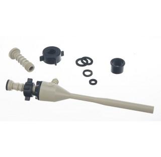 Trompe a eau avec clapet anti retour , corps en plastique , cons 8 litres/ min , set de branchement