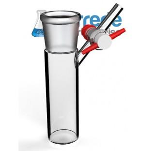 Tube schlenk 50 ml rodage 29/32 robinet 2.5 mm clé PTFE