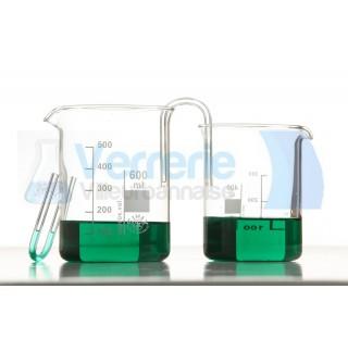 2 Tubes pont salins (vendus par 2 sans bechers)   verre pyrex fabrique dans nos ateliers en France
