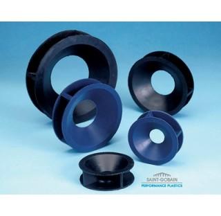 Valet Bibase en silicone bleu réversible pour ballons 50 à 100 ml diam sup 80 mm diam inf 46 mm ha